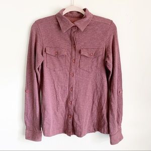 Columbia Button Down Long Sleeve Eggplant Blouse S